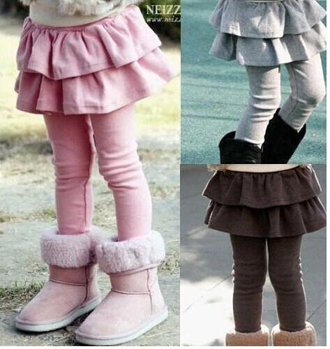 Free shipping Retail girl legging Girls Skirt-pants Cake skirt kids leggings girl baby pants kids leggings leggings for girls(China (Mainland))