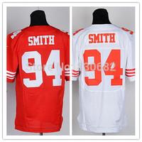 San Francisco #94 Justin Smith Jersey Cheap Elite American Football Jerseys Embroidery Logo Mix Order size M-XXXL Free shipping