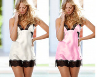 Women VS sleepwear (VSL032) Ladies nightgown Very sexy Pajamas underwear Nightie Skirt Free Shipping High Quality lingeries