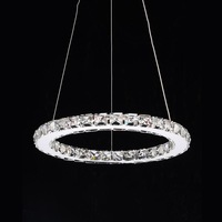 Creative round modern minimalist staging remote a variety of size led chandelier
