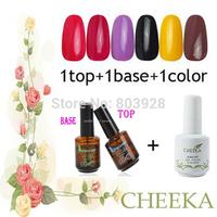 2014 New Hot Excellent 15ml Professional wholesale Nail Art 60 Color Base gel top coat set Gel Nail Polish