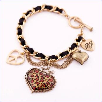 Браслет с брелоками Fine Jewelry Pulseiras Femininas Vintage Bracelet браслет с брелоками seendom jewelry 925 pulseiras cz xoxo pbs105