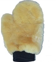 Free Shipping High Quality Fragment Genuine Sheepskin Wool Car Wash Mitt wash Glove
