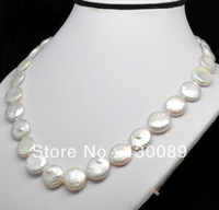 Charming! Baroque Button Beads Natural Pearl Necklace Cultured Freshwater Unique Gift Free Shipping Fashion Pearl Jewelry Unice
