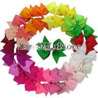 Free Shipping!40pcs 3.5'' Pinwheel bows Hair Clips,Grosgrain ribbon hair bows WITH CLIP,Pin Wheel Hair Bow Baby bows Hairpins