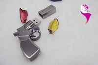 New  arrival thumbdrive/U disk  Cartoon Noverty White gun USB 2.0 Memory flash stick pen free shipping