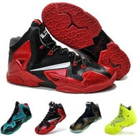 Free Shipping 2013 High quality lebron 11 P.S elite basketball shoes men athletic shoes lebron XI sport shoes trend black red