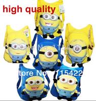 2014 hot sale minion backpack kids cartoon despicable me shoulder bag 3pcs/lot free shipping