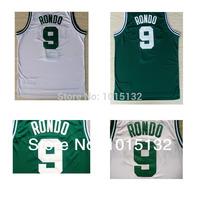 Boston #9 Rajon Rondo Basketball Jersey Green White Color Rondo Basketball Shirt Free Shipping