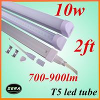 free shipping 2pcs T5  led tube 600mm 10w  85-265V 700-900LM led fluorescent tube lamp   2ft light bulbs