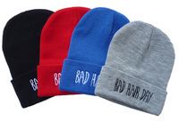 NEW !! Rum & Koke  BAD HAIR DAY Beanie hat hiphop beanie 4 colors Winter hat for Men/WOMEN 10pcs/lot free shipping