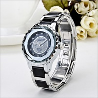 Water Resistant Waterproof  Watch Free Ship New 2013 Fashion Rhinestone Ceramics Wristwatch Gifts Girl Lady Women Dress Watches
