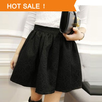 Women High Waisted Skirt 2014 New Arrival Fashion Brand Lady Elastic Ball Gown Women Black White Skirt Top Quality