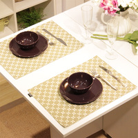 Pat Mat Heat Insulation  Fashion Four Leaf Clover Double Layer Fabric Mat Coasters Table Mat Placemat