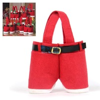 5Pcs/Lot Santa Pants Christmas Gifts Decoration Christmas Wedding Candy Bags Lovely Gifts 18915