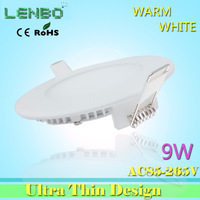 9w LED panel lights 5PCS/LOT High quality 2835 smd led ceiling light 85-265v recessed light or home light 900lm LP1