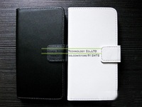 Genuine Leather Wallet Case Cover for HTC ONE M7 with Card Holder Luxury Book Style Stand Case for HTC ONE M7