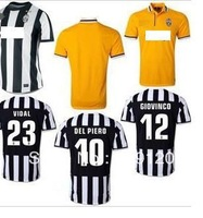 2014 Factory Price Player Version Juventus home away Soccer Jersey football shirt,100% thailand quality  juventus shirt