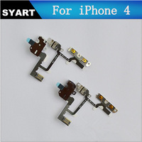 NEW Headphone Jack Mute Switch Volume Buttons Audio Flex Cable For iPhone 4 GSM Free Shipping