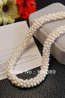 Exquisite! 4_5mm Beads Natural Pearl Necklace Cultured Freshwater Exclusive Design Fashion Pearl Unice Jewelry Free Shipping