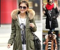 WF-4641 Warm Winter Womens Korean Hooded Parka Overcoat Long Jacket Coat Outerwer S-XXL