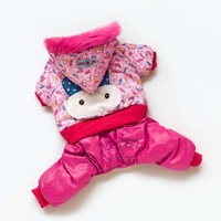 PINK RABBIT--High Quality Fashion Dog Pet Clothes Dog Snowsuit Jumpsuit Warm Winter Hoodies
