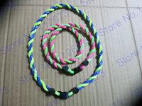 wholesales titanium 2 ropes necklaces titanium magnetic balance sport custom necklace 16/18/20/22 inch free shipping