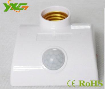 Free shipping e27 led light base motion sensor lamp holder(China (Mainland))