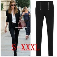 2014 New Fashion Women's Spring & Autumn Plus Size Casual Black Skinny Pants Pencil Pants/ Trousers