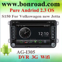 pure android 2.3 system car gps navigation for new vw passat jetta