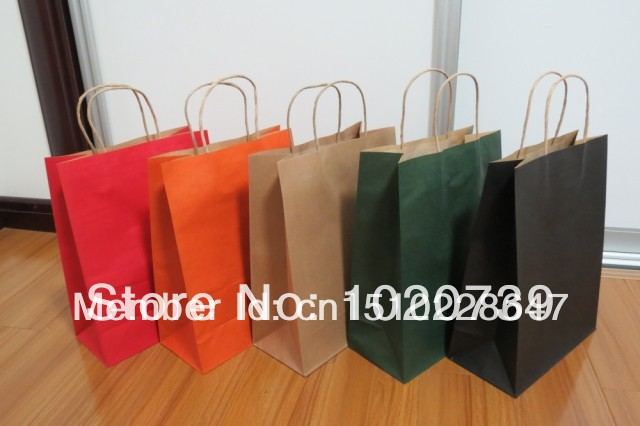 High Quality Wholesale customize kraft paper packing bag, shopping bag, shoes pack bag Kraft custom packing Christmas bag(China (Mainland))