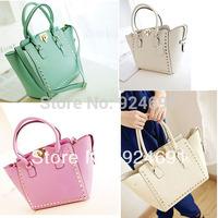 2014 New Retro Diagonal Rivet PU Leather Women Handbag Shoulder Bags Women Messenger Bags Crossbody Bags for Women 8270