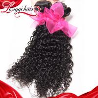 Xuchang Longqi Hair 6A unprocessed Peruvian virgin hair weave bundles 4 pcs lot Peruvian curly virgin hair extensions LQPJC001