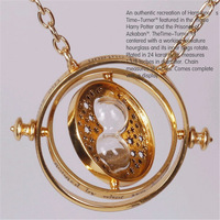 2015 new womens Harry Potter Hermione Granger Rotating Time Turner pendants Necklace Gold Hourglass pendant for women necklaces