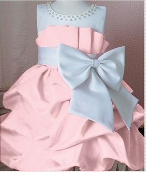 1 pcs/lot NEW Arrival 2013 children dress girls High-grade Princess dress chiffon Big bowknot dresse for summer