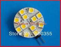 10-30V DC/AC 12V/24V AC/DC G4 LED light SMD 5050 12leds G4 leds 2Watt Spotlight Cold white/ Warm white 10pcs/lot