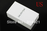 10pcs/lot free shipping DHL Hot Sales US/EU version package box for Samsung Galaxy S3 i9300 packing with full accessories