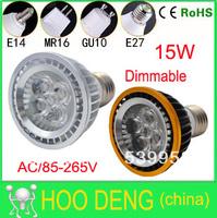 E27/GU10/E14/B22/MR16 Par20 5x3w 15w 5-CREE LEDS par 20 led lamp Spotlight 85V-265V Led Bulbs Lighting Warm/Cool/White