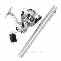 Mini Aluminum Pocket Pen Fishing Rod Pole Freeshipping Dropshipping Wholesale - HM350