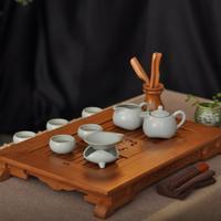 Ceramic set kung fu tea set tea sea bamboo tea tray tz033