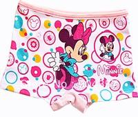 Wholesale Cotton Girls Panties Minnie Mouse Kids Underwear Shorts Pants Dots Colorful Boxer Briefs
