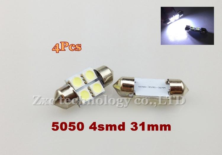 2x White 41mm 8SMD LED 5050 Car Interior Dome Festoon Door / Step / Courtesy Map Side Light Bulb Lamp 12V 2pcs Free shipping(China (Mainland))