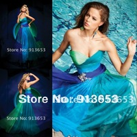 Free shipping Unique design Beautiful and attractive Sweetheart  Chiffon  high quality  Evening Dresses Party Gowns Prom Dresses