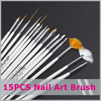 Nail Art  brush Set Dotting Painting Drawing  Brush Pen Tools 15pcs  Kit  High Quality  Free shipping