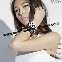 100pcs/lot  fashion leather bracelets lovely PU leather Punk  bracelets