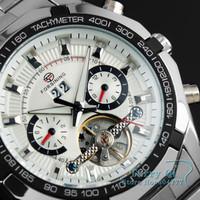 FORSINING New 2015  New Fashion Watch Stainless Steel Tourbillon Auto Mechanical Watches Mens Men's Wristwatch