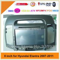 "Free Map 7"" stereo radio car cd dvd hyundai elantra 2007 2008 2009 2010 2011 gps with Ipod BT Analog TV Steering wheel control"