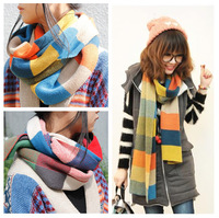 Free Shipping Fashion Brand Stripes Print Scarf Imitate Wool Scarves Designer Autumn Winter Long Warm Scarfs Wraps A3603