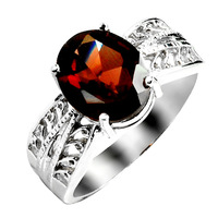 Free shipping  accessories 925 silver natural stone  female sr0185g  garnet ring