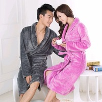 High quality Robes Autumn -winter flannel robes lovers sleepwear 2013 fashion warm bathrobe bathrobes coral fleece .black robe